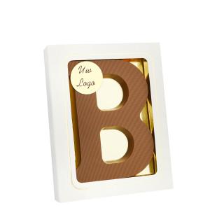 Grote Letter B met logo melk