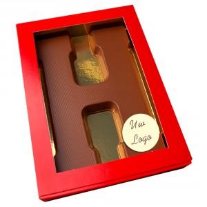 Letter H met logo melkchocolade