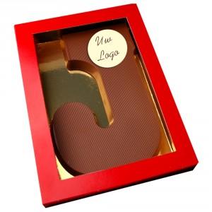 Letter J met logo melkchocolade