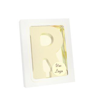 Grote Letter R met logo wit