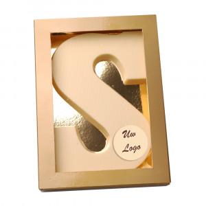 Letter S met logo wit