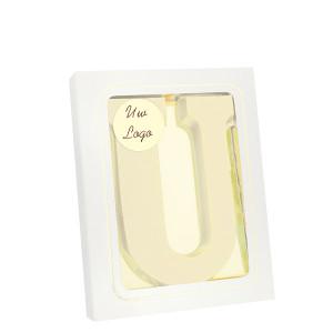 Grote Letter U met logo wit