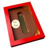 Letter D met logo melkchocolade