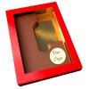 Letter L met logo melkchocolade