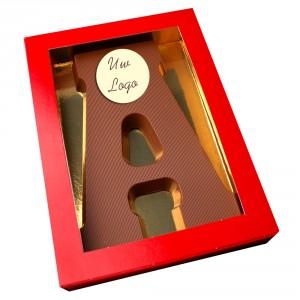 Letter A met logo melkchocolade