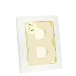 Grote Letter B met logo wit