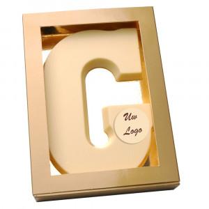 Letter G met logo wit