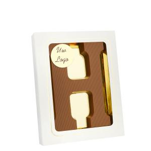 Grote Letter H met logo melk