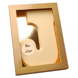Letter J met logo wit