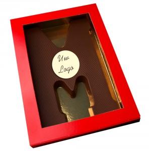 Letter M met logo pure chocolade