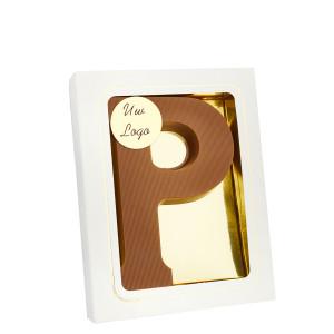 Grote Letter P met logo melk
