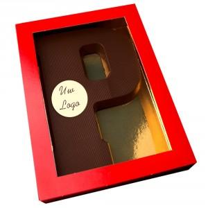 Letter P met logo pure chocolade