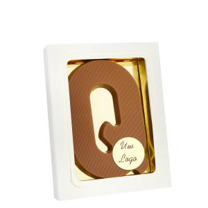 Grote Letter Q met logo melk