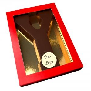 Letter Y met logo pure chocolade