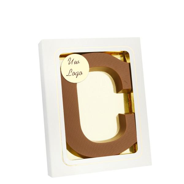 Chocoladeletter C met logo
