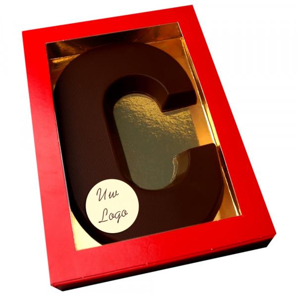 Letter C met logo pure chocolade