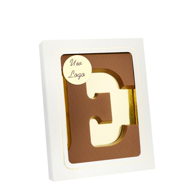 Chocoladeletter E met logo