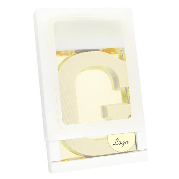Grote Letter G met logo wit