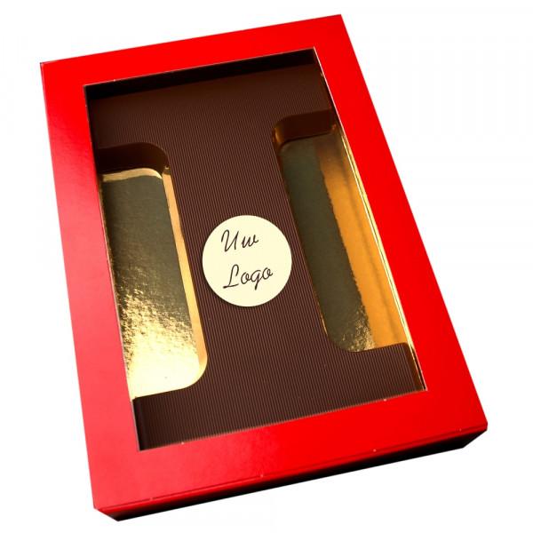 Letter i met logo pure chocolade