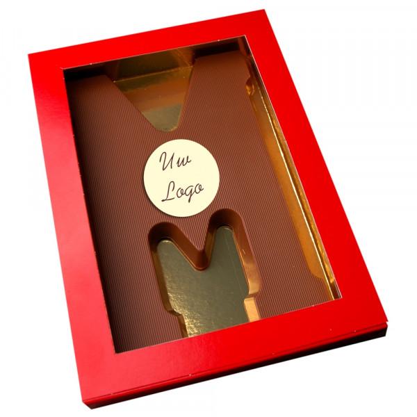 Letter M met logo melkchocolade