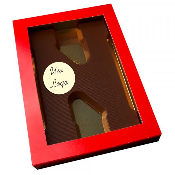 Letter N met logo pure chocolade