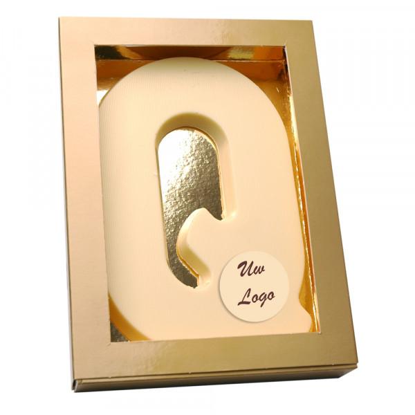 Letter Q met logo wit