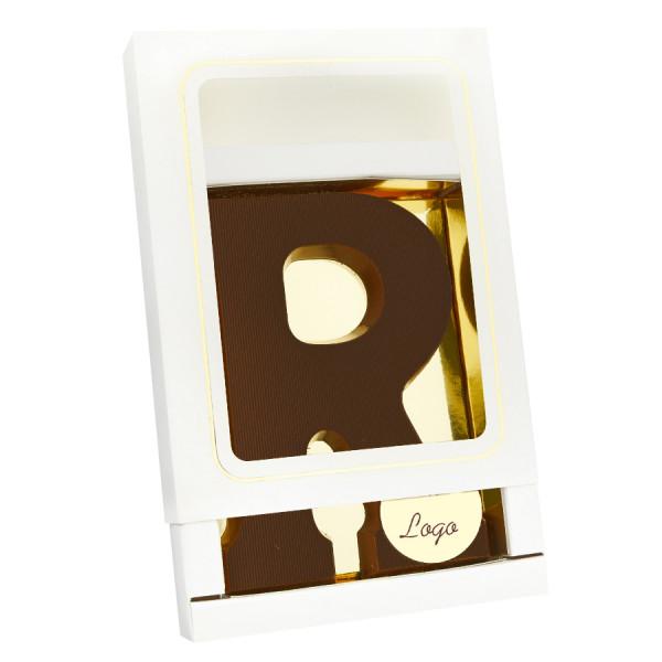 Grote Letter R met logo puur