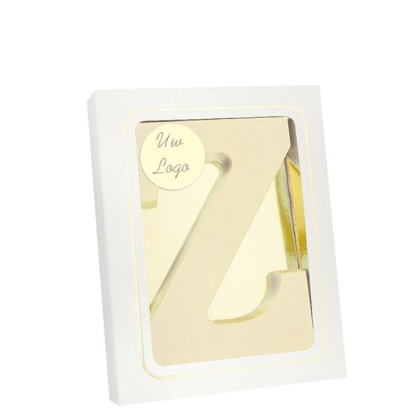 Grote Letter Z met logo wit