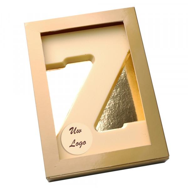 Letter Z met logo wit